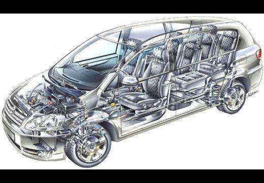 Toyota Avensis Verso I van prześwietlenie