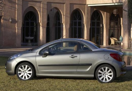 PEUGEOT 207 CC I kabriolet silver grey boczny lewy