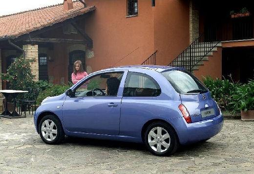 NISSAN Micra VI hatchback niebieski jasny tylny lewy