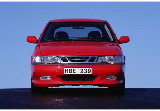 SAAB 9-3 I hatchback czerwony jasny przedni