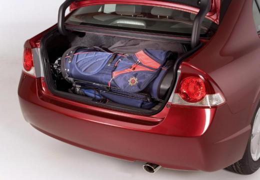 HONDA Civic VI sedan bordeaux (czerwony ciemny) przestrzeń załadunkowa
