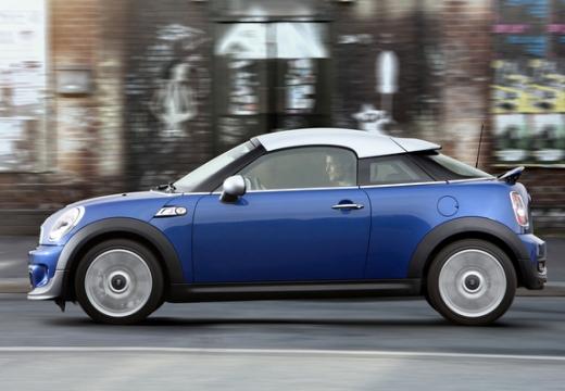 MINI [BMW] coupe niebieski jasny boczny lewy