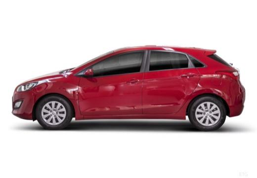 HYUNDAI i30 IV hatchback czerwony jasny boczny lewy