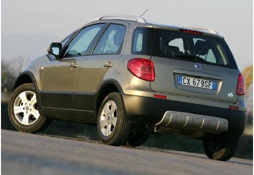 FIAT Sedici kombi zielony tylny lewy