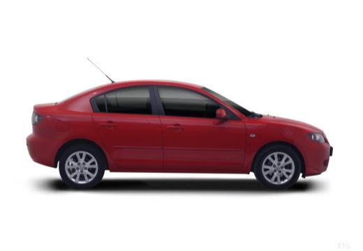 MAZDA 3 II sedan czerwony jasny boczny prawy