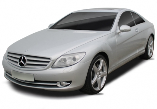 MERCEDES-BENZ Klasa CL coupe silver grey