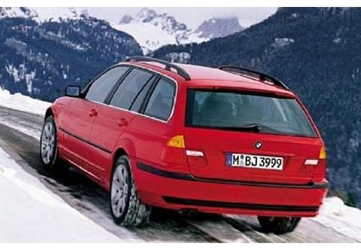 BMW Seria 3 kombi czerwony jasny tylny lewy