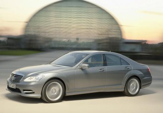 MERCEDES-BENZ Klasa S sedan silver grey przedni prawy