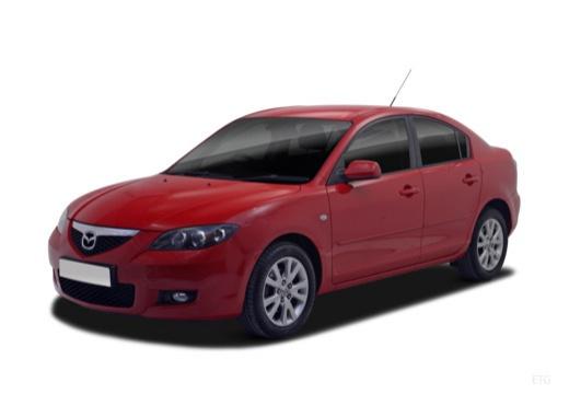 MAZDA 3 II sedan czerwony jasny przedni lewy