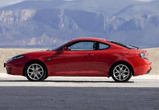 HYUNDAI Coupe IV coupe czerwony jasny boczny lewy