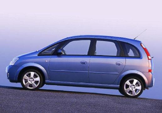 OPEL Meriva I hatchback niebieski jasny boczny lewy