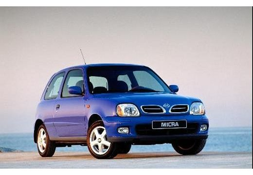 NISSAN Micra hatchback niebieski jasny przedni prawy