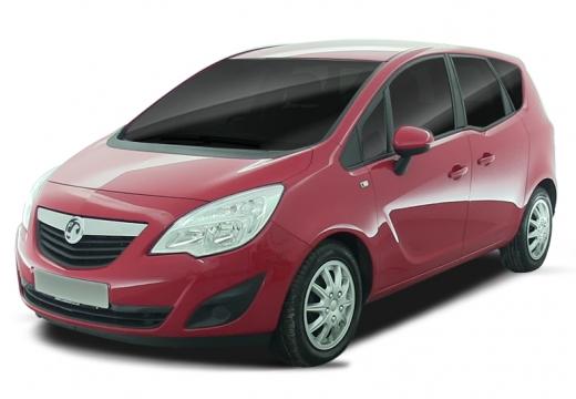 OPEL Meriva hatchback czerwony jasny