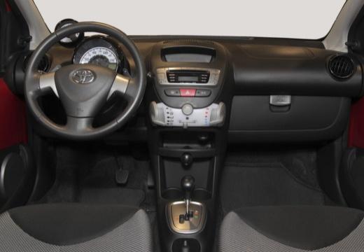 Toyota Aygo III hatchback czerwony jasny tablica rozdzielcza