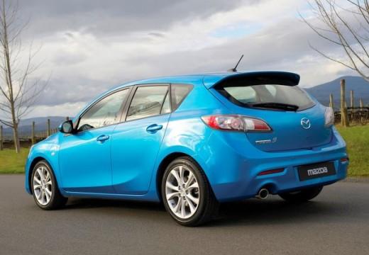 MAZDA 3 III hatchback niebieski jasny tylny lewy