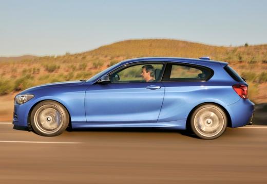 BMW Seria 1 F21 I hatchback niebieski jasny boczny lewy