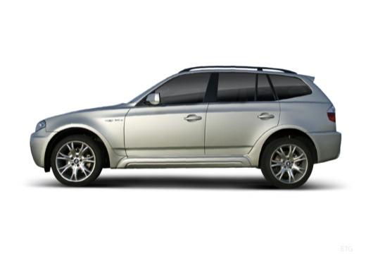 BMW X3 X 3 E83 II kombi silver grey boczny lewy