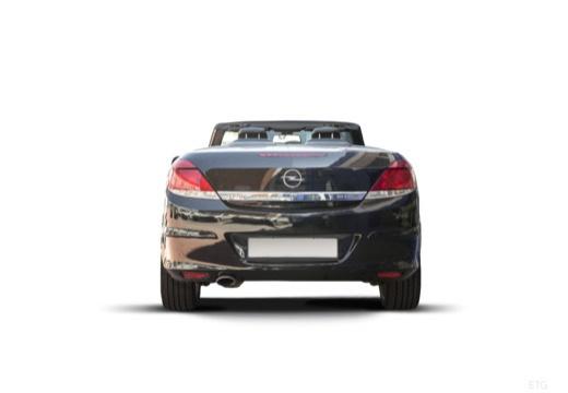 OPEL Astra TwinTop kabriolet czarny tylny