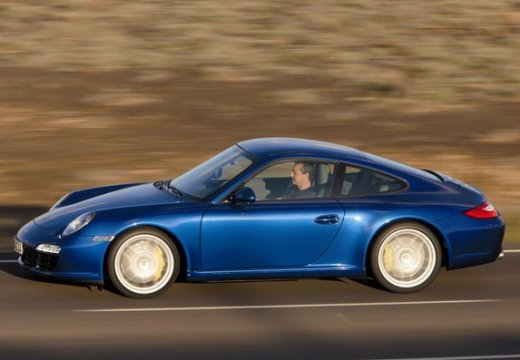 PORSCHE 911 997 coupe niebieski jasny boczny lewy