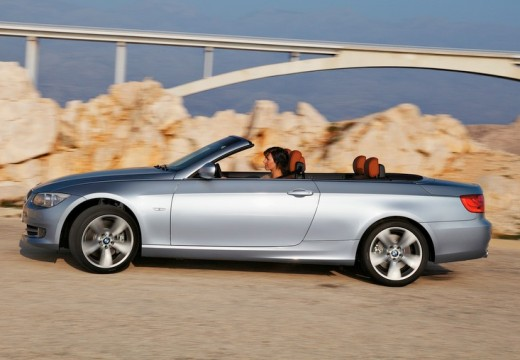 BMW Seria 3 Cabriolet E93 II kabriolet silver grey boczny lewy