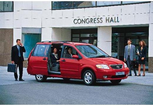 MAZDA MPV II van czerwony jasny przedni prawy