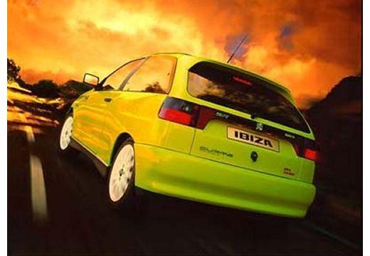 SEAT Ibiza II hatchback zielony tylny lewy