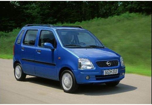 OPEL Agila I hatchback niebieski jasny przedni prawy