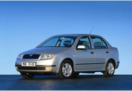 SKODA Fabia II sedan silver grey przedni lewy