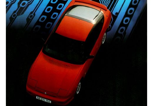 NISSAN 200 SX coupe czerwony jasny górny przedni