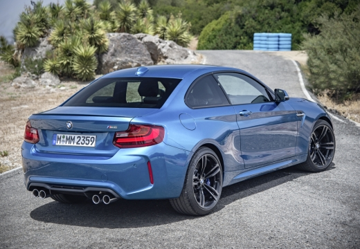 BMW Seria 2 F22 I coupe niebieski jasny tylny prawy