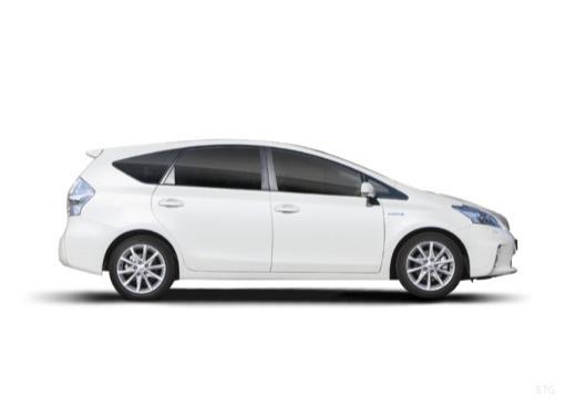 Toyota Prius kombi biały boczny prawy