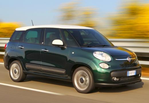 FIAT 500 L Living kombi zielony przedni prawy