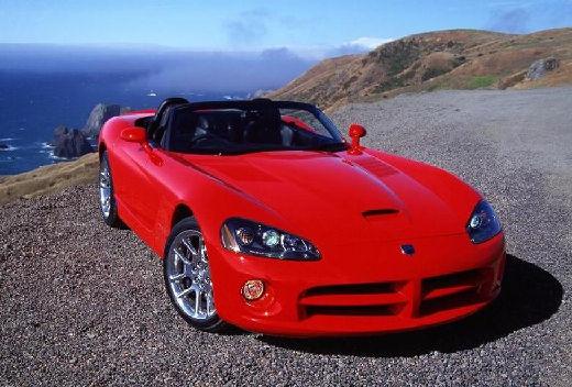 DODGE Viper Roadster III coupe czerwony jasny przedni prawy