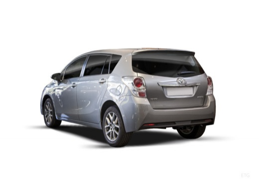 Toyota Verso II kombi mpv szary ciemny tylny lewy