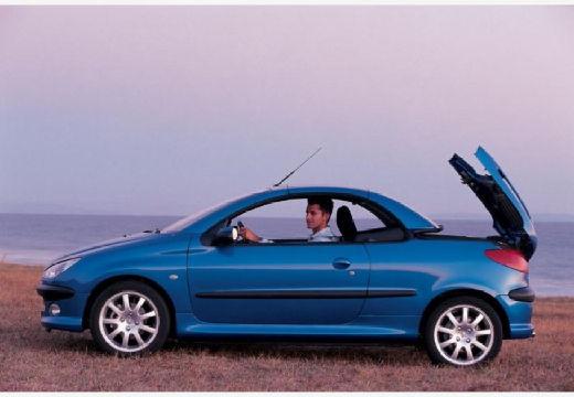 PEUGEOT 206 CC I kabriolet niebieski jasny boczny lewy