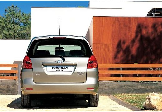 Toyota Corolla Verso I kombi mpv silver grey tylny