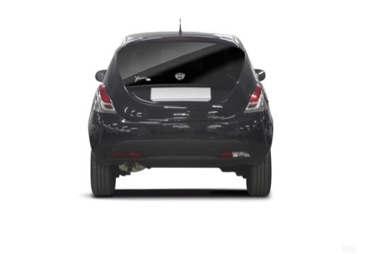 LANCIA Ypsilon hatchback czarny tylny