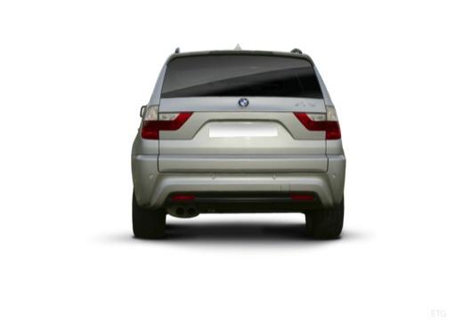 BMW X3 X 3 E83 II kombi silver grey tylny