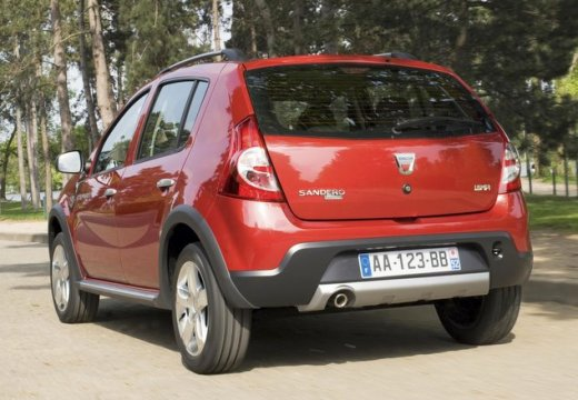 DACIA Sandero I hatchback czerwony jasny tylny lewy