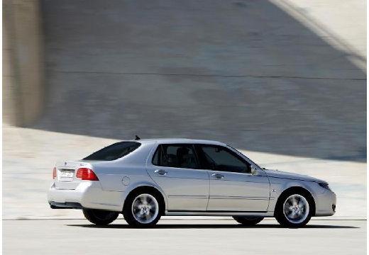 SAAB 9-5 III sedan silver grey tylny prawy