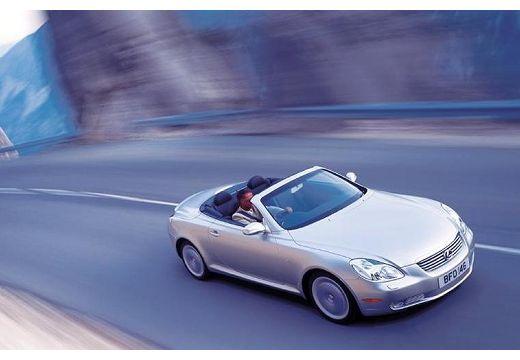 LEXUS SC coupe silver grey przedni prawy