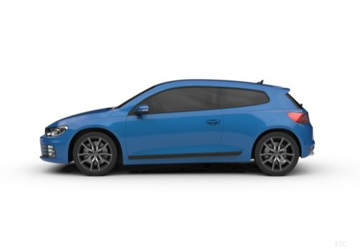 VOLKSWAGEN Scirocco coupe boczny lewy