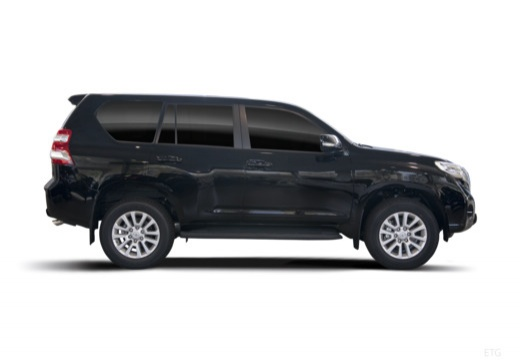 Toyota Land Cruiser 150 II kombi czarny boczny prawy