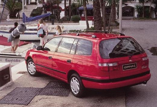 Toyota Carina E kombi czerwony jasny tylny lewy