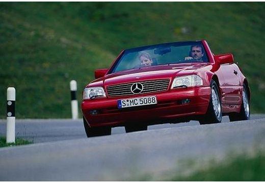 MERCEDES-BENZ Klasa SL SL R129 I kabriolet czerwony jasny przedni lewy