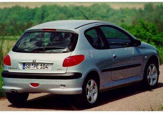 PEUGEOT 206 I hatchback silver grey tylny prawy