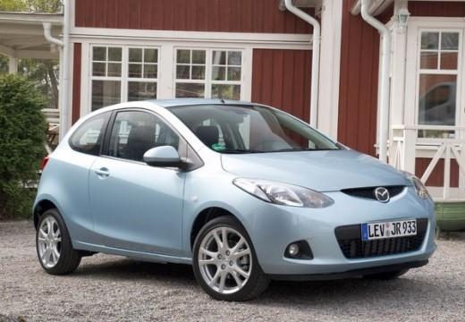 MAZDA 2 II hatchback niebieski jasny przedni prawy