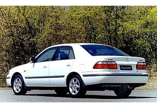 MAZDA 626 sedan biały tylny lewy