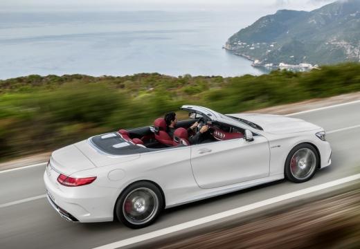 MERCEDES-BENZ Klasa S Coupe kabriolet biały górny tylny