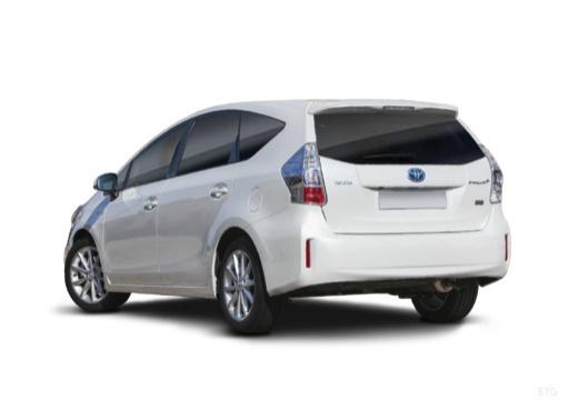 Toyota Prius + I kombi biały tylny lewy